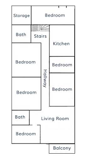 Six Bedroom Flat